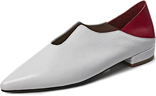Nine Seven Women's Leather Pointtoe Flatheel Flats