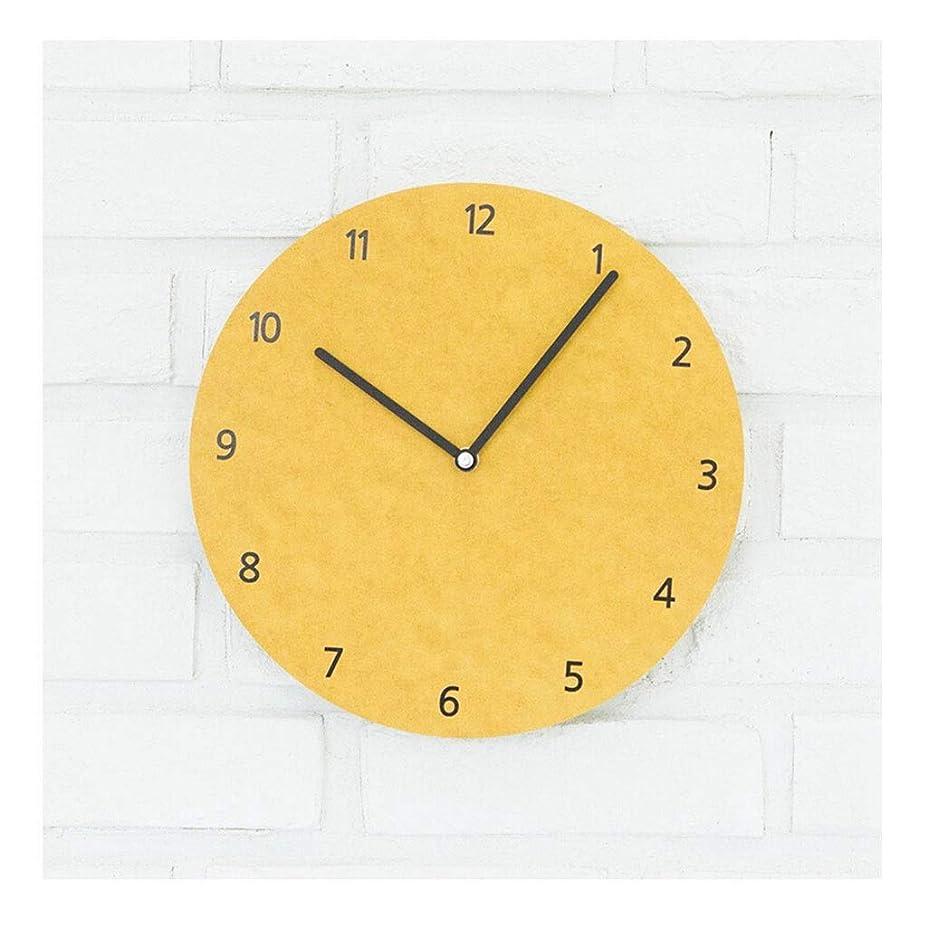 アシスタント気体の代表するクロックウォールクロック電池式リビングルームの装飾サイレントベッドルームキッチンシンプルデザインクォーツウォールクロックノンチック&家庭用時計(カラー:B)