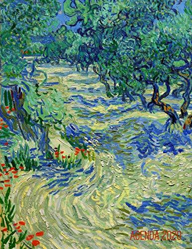Huerto de Olivos Agenda Mensual 2020: Vincent van Gogh | Planificador Diaria | Ideal Para la Escuela, el Estudio y la Oficina | Pintor Holandés | Enero a Diciembre 2020 | Post Impresionismo