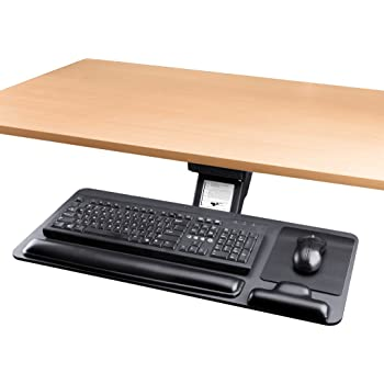 Adjustable Keyboard Tray Ergonomic Design Standard Under Desk Platform Large Space Track CARTMAY