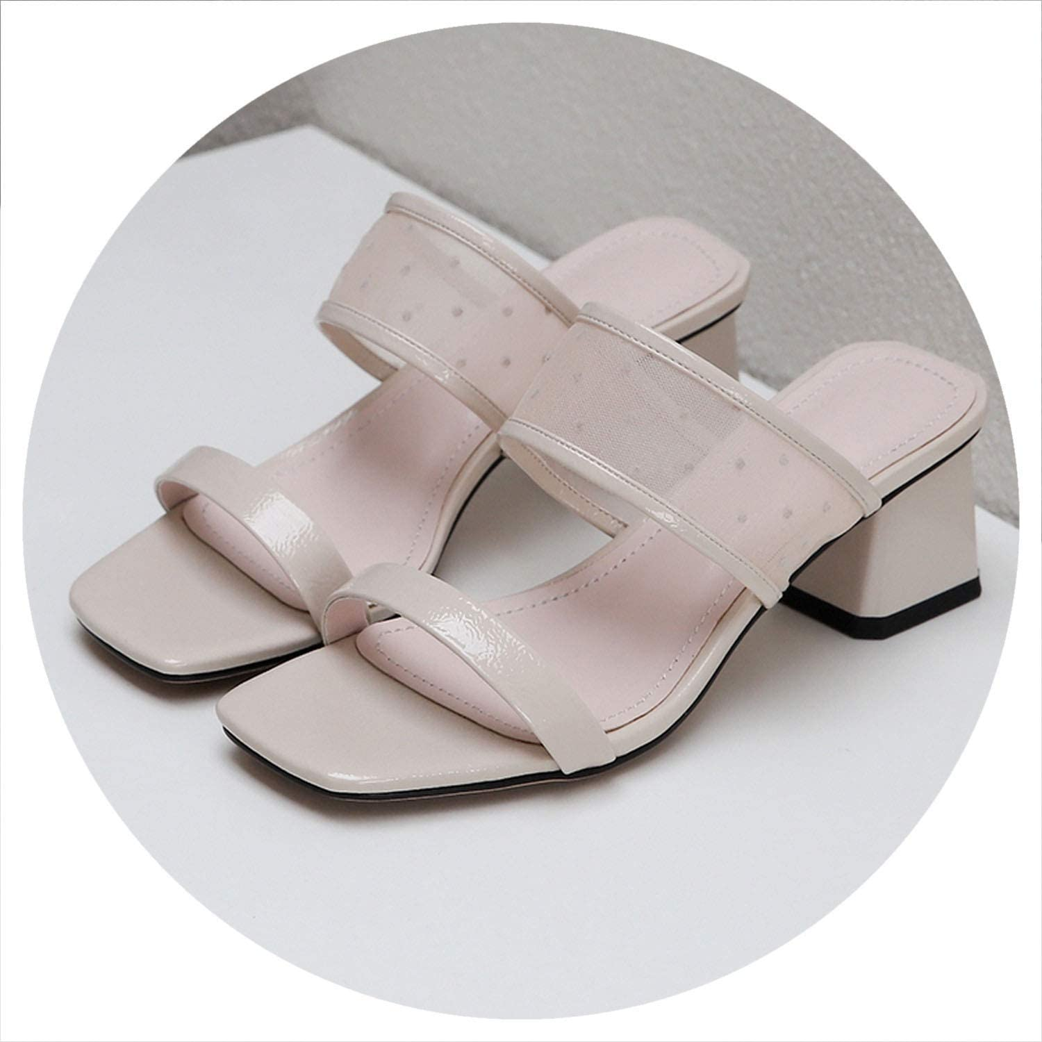 Women Slippers High Heel shoes Summer Comfort Wedding Dress shoes Sandals Large Size 34-43