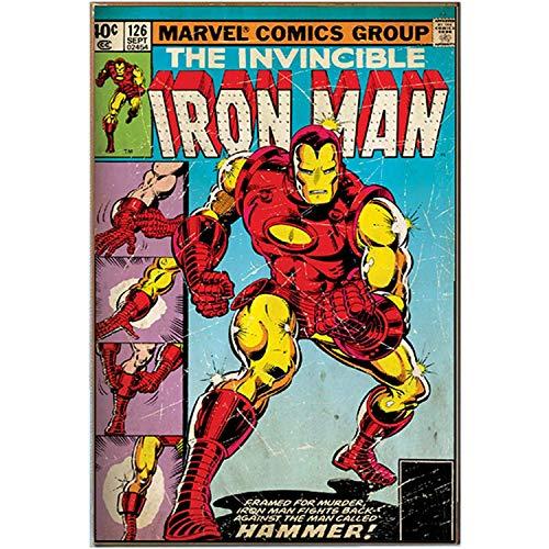 Silver Buffalo MC1536 Marvel Iron Man 'Hammer' MDF Wood Wall Art, 13 x 19 inches