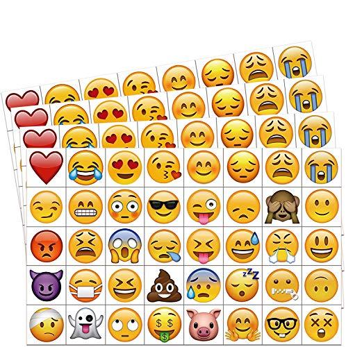 Konsait Emoji Sticker Temporäre Tattoo Set (160 stücke 2 Zoll), Kindertattoos Emoji Aufkleber für Kinder Spielen Kindergeburtstag Mitgebsel