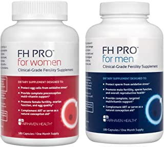 FH PRO Combo Pack, Daily Fertility and Preconception Nutrient Support, Hormone Balance for Women, Sperm Health for Men, 30...