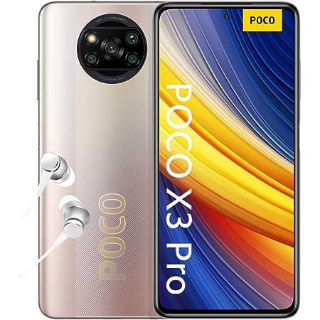 """POCO X3 Pro, Smartphone 8+256 GB, 6,67"""" 120 Hz FHD+ DotDisplay, Snapdragon 860, cámara cuádruple de 48 MP, 5160 mAh, Bronce Metálico (versión ES/PT), incluye auriculares"""