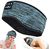 Bluetooth Headband Wireless Sleep Headphones, TOPOINT Music Sports Sleeping Headband Headphones for Workout, Jogging, Yoga (Blue)