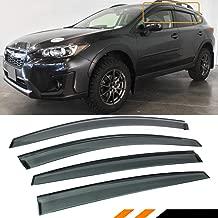 Cuztom Tuning Fits for 2018 2019 Subaru Crosstrek & 2017-2019 Impreza 5 Door Hatchback Smoke Window Visor Rain Guard Deflector