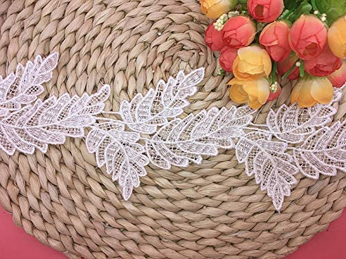 excellence 9.5CM Width Financial sales sale Europe Leaf Pattern C Trim Lace Embroidery Inelastic