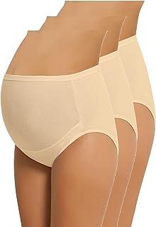 NBB Lingerie 4-Pack Women's Adjustable 100% Cotton Maternity Underwear HighCut Brief