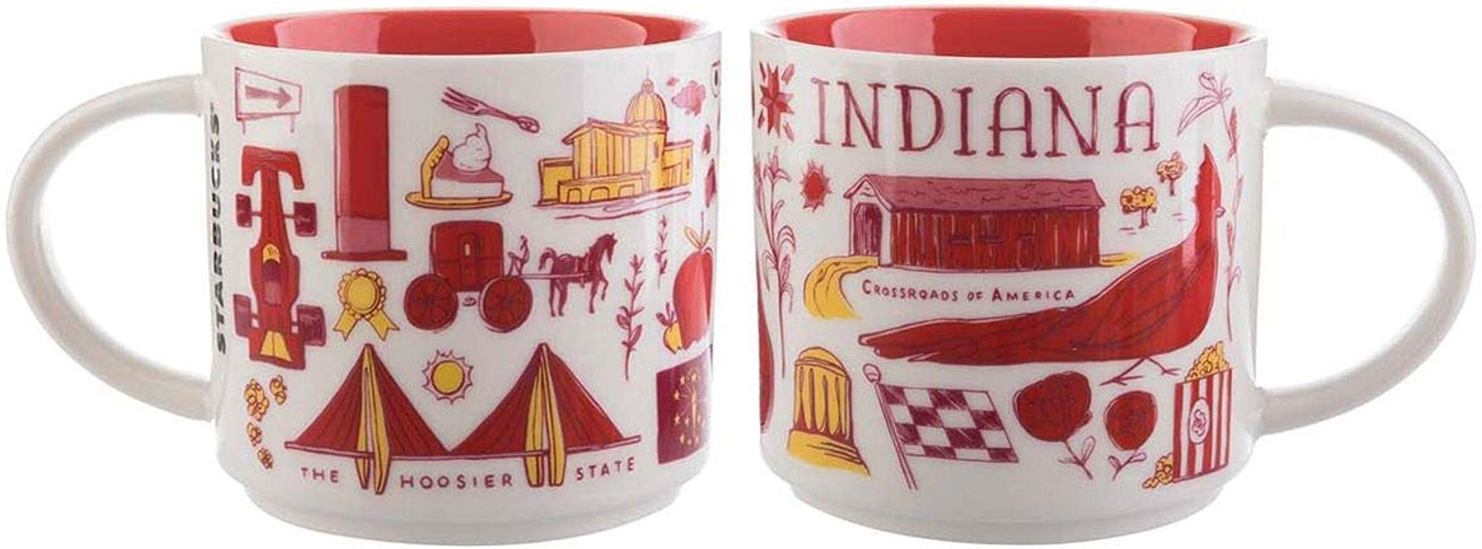 Starbucks Indiana Mug Been There Series Across The Globe Collection