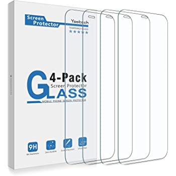 Yootech [4 Pack] Screen Protector Compatible with iPhone 12 Mini,Tempered Glass Screen Protector Compatible with iPhone 12 Mini 2020[Anti-Scratch][Bubble Free][Case-friendly],5.4-Inch