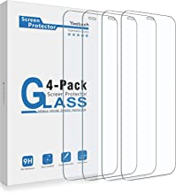 Yootech Screen Protector Compatible with iPhone 12 Mini,[4 Pack] Tempered Glass Screen Protector Compatible with iPhone 12 Mini 2020[Anti-Scratch][Bubble Free][Case-friendly],5.4-Inch
