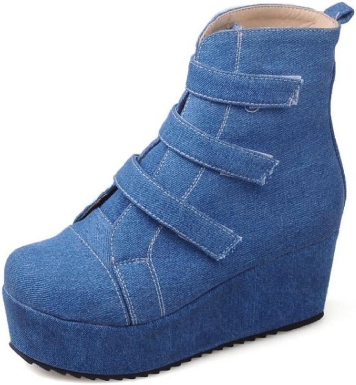 KemeKiss Women Fashion Boots Velcro