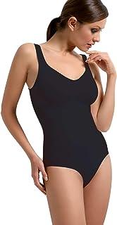 SENSI' Body Donna Modellante Contenitivo Snellente Super Comfort Senza Cuciture con Spalla Larga - Made in Italy