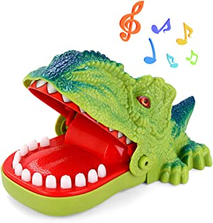 Dinosaur Teeth Toys Game for Kids, Dinosaur Biting Finger Dentist Games Funny Toys with Sounds, Ages 4 and Up