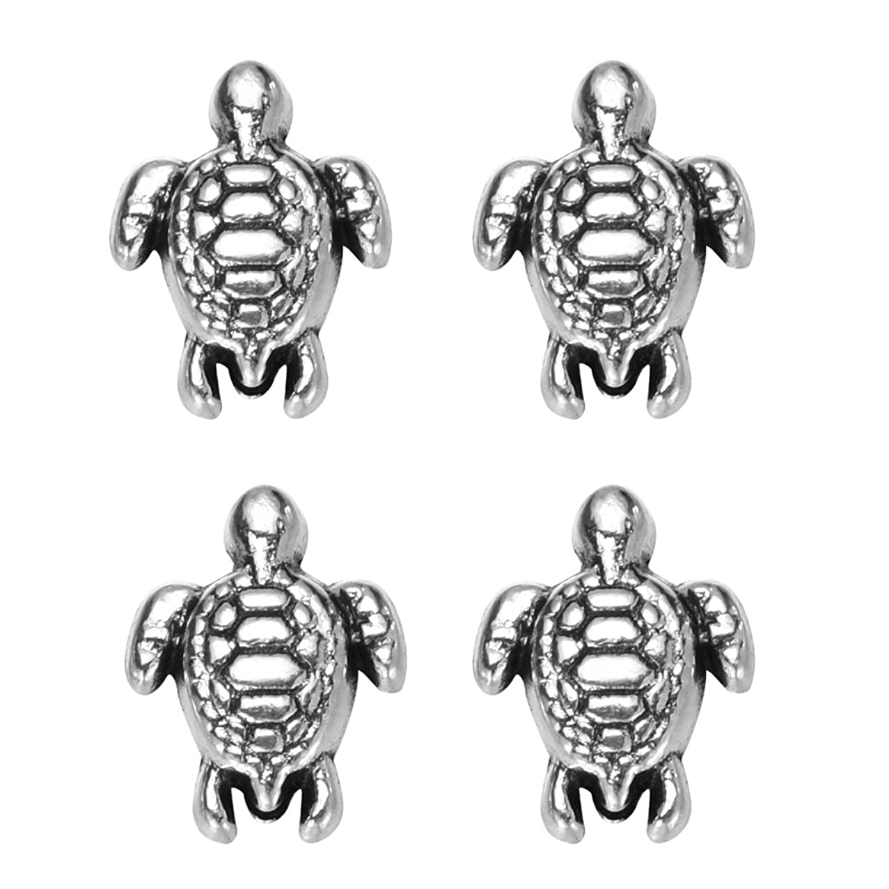 zhangdongDIY 160 pcs Antique Silver Lovely Turtle Pendant Bead Fit Original Charms Bracelet Jewelry Making 9x7mm