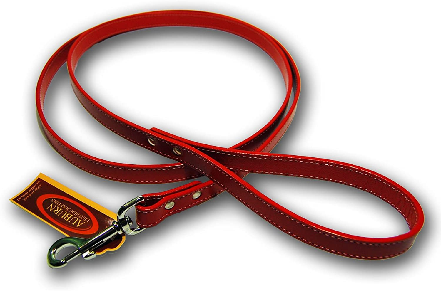 Dover Court Dog Lead color Red, Size  0.75  x 72