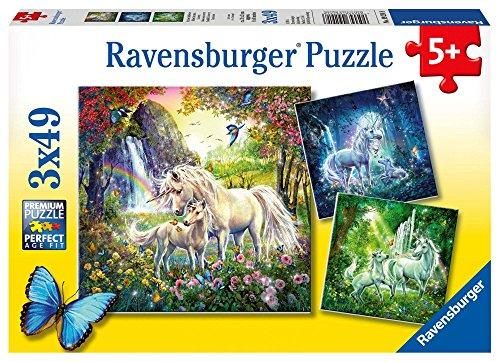 Ravensburger Kinderpuzzle 09291 - Schöne Einhörner - 3 x 49 Teile