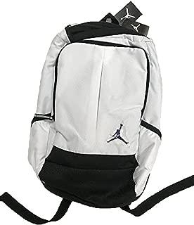 New Air Jordan Jumpman Classic Boy's Girl's Bookbag Laptop Storage Sports Bag, White/Black