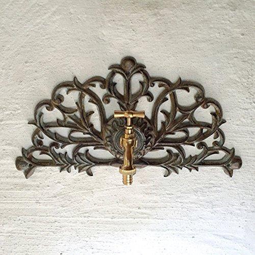 Antikas - decoración de Pared jardín - Ornamento de Pared con Grifo de latón - lavamanos de Pared