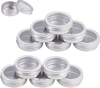 small metal containers with clear lids