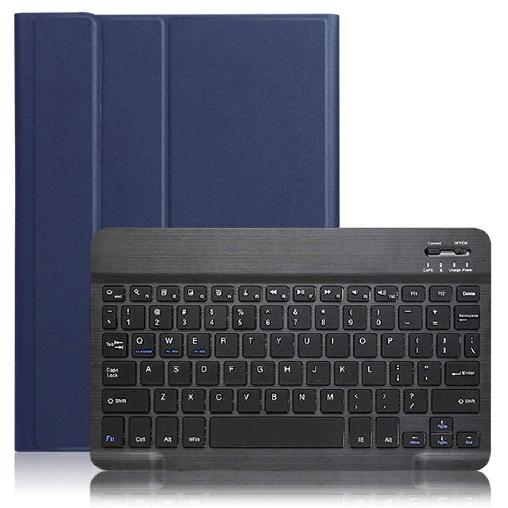 HNKHKJ Estuche para Tableta Apple iPad 7th Generation 10 2 (A2200 / A2198 / A2232) Teclado Bluetooth inalámbrico extraíble Smart Cover-Dark_Blue: Amazon.es: Electrónica