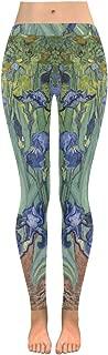 Low Waist Yoga Leggings Women Workout Leggings Women Irises by Vincent Van Gogh