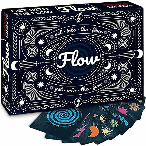 Flow Kartenspiel - Das Partyspiel für Adrenalin Junkies auf Speed - Teste Deine Reaktionen & Schnelligkeit - für 2 - 4 Personen (Get Into The Flow)