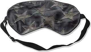 Granbey Stars Camouflage Sleep Mask - Black American Flag Pattern Eye Mask Soft Washable Eye Shade Cover for Side Sleeper ...