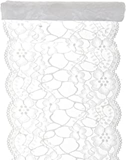 SANTEX 5290-1-18, Chemin de table dentelle premium blanc