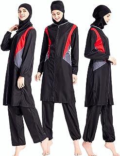 229044d2c1 ziyimaoyi Femme Musulmane Modeste Maillots de Bain modestie Jumpsuit Maillot  de Bain Hijab Maillot de Bain