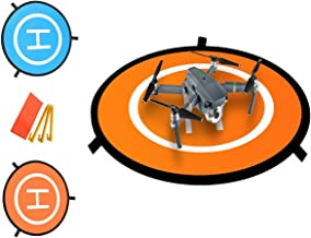 Drone Landing pad ,Portable Landing mat for Phantom 2/3/4/4 Pro, Inspire 2/1, 3DR Solo, RC Drones Helicopter DJI Mavic Pro, Parrot, Antel Robotic & More (Waterproof & Universal Helipad)