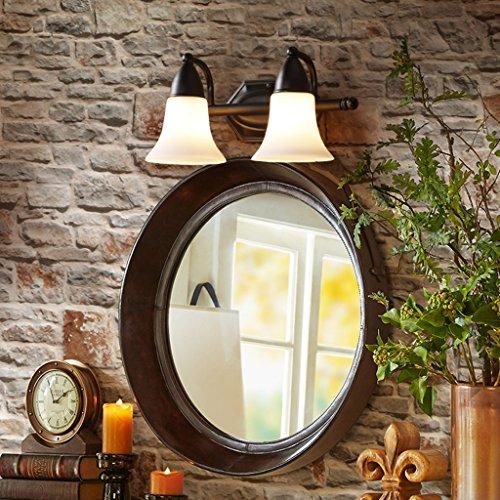& Lampe Salle de Bain Miroir Lampe, Rétro Salon Chambre Étude Fer Verre Couverture Mur Lampe Moderne Minimaliste Creative Lampe Lumière