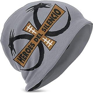 Hdadwy Beanie Hat Heroes del Silencio Knit Hat Gorro de Calavera Fina con puños para niños niñas Negro