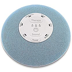 HoMedics Deep Sleep Mini Portable Sleep Sound Machine | 3 Programs, 3 White Noises, 2 Sounds, Guided Meditation, Auto-Off Timer, Rechargeable Battery, Blue