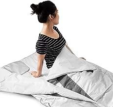 ZGYQGOO 660W Sauna Blanket Infrared FIR 3 Zones Sauna Blanket Weight Loss Spa Detox Slimming Machine(660W 77°F - 185°F)