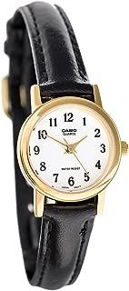 19053 ltp-10 Clock – Lady Quartz Leather Strap White Dial
