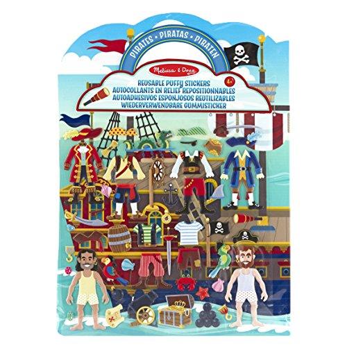 Melissa & Doug 19102 & Doug Aktivitätenbuch mit wiederverwendbaren Gummistickern - Piraten (51 Sticker)