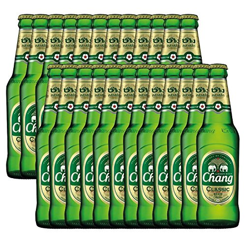 Chang Classic - Bier - 5{b9a480a1df86916cd1be4c583e0e9dc2b8467e9949c54c72133c164eab8e7f44} vol., 24er Pack (24 x 320 ml) EINWEG