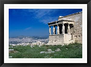 Porch of The Caryatids, Acropolis of Athens, Greece by Rolf Nussbaumer/Danita Delimont Framed Art Print Wall Picture, Black Flat Frame, 44 x 32 inches