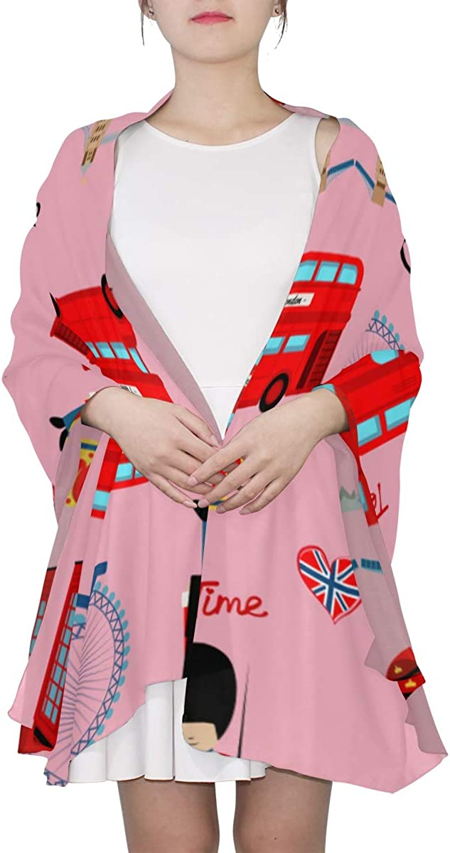 Cute London Guard Cartoon Unique Fashion Scarf For Women Lightweight Fashion Fall Winter Print Scarves Shawl Wraps Gifts For Early Spring