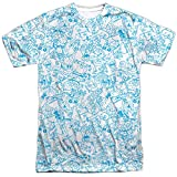 Trevco Men's Foster's Home for Imaginary Friends Double Sided Print Sublimated T-Shirt, White, X-Large