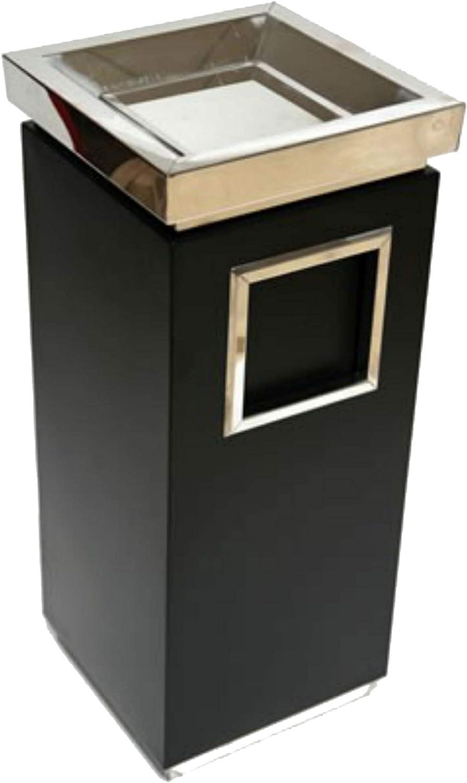 TronicXL Moderner Standascher Standaschenbecher Stand Steh Aschenbecher mit Mülleimer Sule Abfalleimer Stehaschenbecher schwarz
