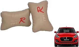 AUTO CAR WINNER Type R Beige(Set of 2) Car Neck Rest Cushion Maruti Swift 2018 ZXI