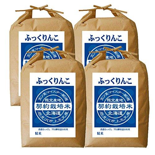 【新米】 ふっくりんこ 白米 20kg (5kg×4袋) 【令和3年度産】五つ星 お米 マイスター 契約栽培米 北海道産