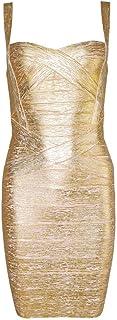 HLBandage Women's Spaghetti Strap Rayon Mini Bodycon Bandage Dress
