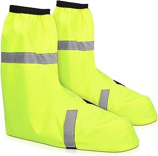 comprar comparacion Navaris Fundas Impermeables para Zapatos - Cubre Zapatos Reflectante para Bici o Moto - Polainas contra Lluvia Lodo para B...
