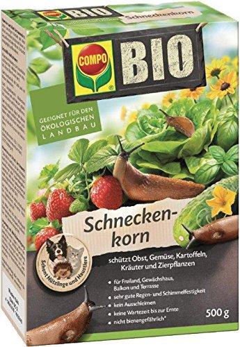 COMPO BIO Schneckenkorn, Streugranulat gegen Nacktschnecken an Obst, Gemüse und Zierpflanzen, 500 g