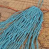 AONER 150 * 200cm Fischernetz Dekoration mit Muscheln Dekonetz zum Aufhängen Fischnetz Deko Maritime Deko Netze Hintergrund Schlafzimmer Wohnzimmer Kinderzimmer Wand Deko (Hellblau) - 2