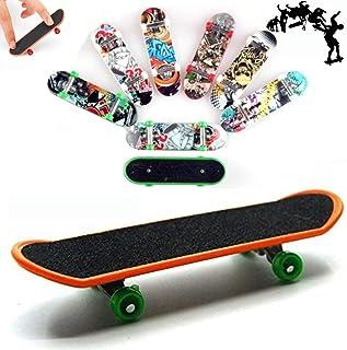 AumoToo Planche à roulettes de Doigt, Lot DE 5 Mini-Jouets à Doigt Deck Truck Finger Board Skate Park Boy Enfants Enfants ...